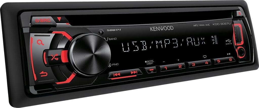 Kenwood Kdc3057 Ur Cd Mp3 Usb Autoradio Rot 12v Radio