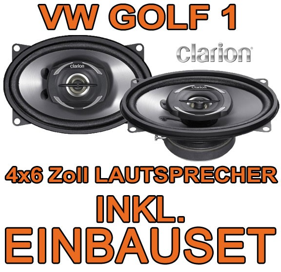 vw golf 1 cabrio clarion koax lautsprecher boxen t r. Black Bedroom Furniture Sets. Home Design Ideas