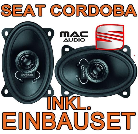 seat cordoba 6k magnat 4x6 koax lautsprecher boxen hinten. Black Bedroom Furniture Sets. Home Design Ideas