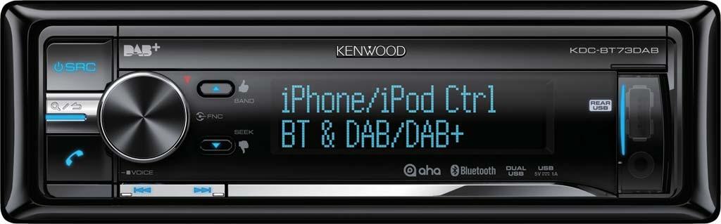 kenwood kdc bt73dab bluetooth dab cd mp3 usb autoradio. Black Bedroom Furniture Sets. Home Design Ideas