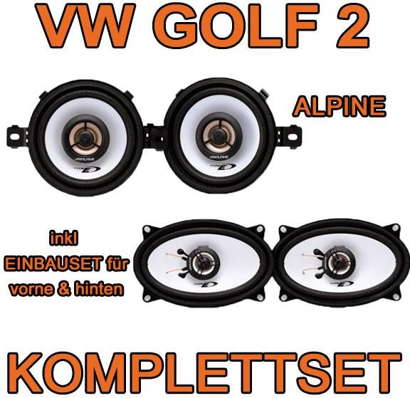 vw golf 2 lautsprecher alpine komplettset f r vorne