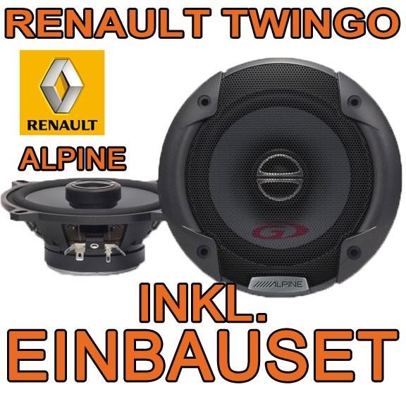 renault twingo 2 alpine 13cm koax lautsprecher boxen t r. Black Bedroom Furniture Sets. Home Design Ideas