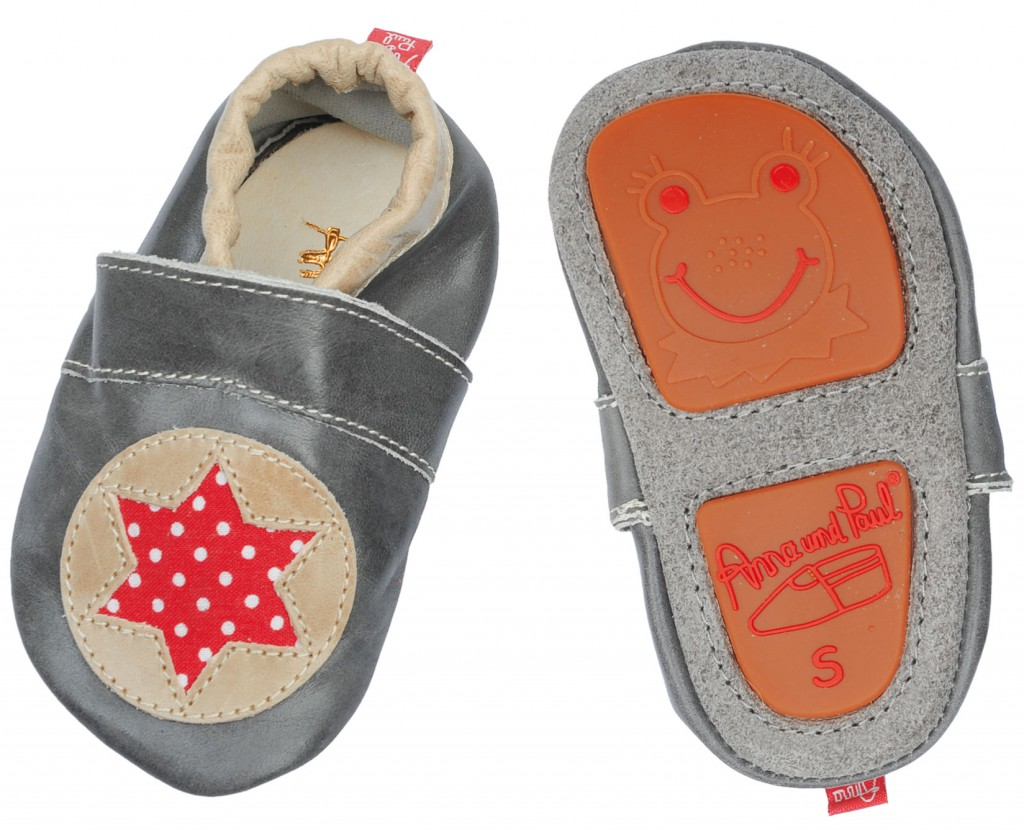 anna paul krabbelschuhe star sand with rubber sole baby. Black Bedroom Furniture Sets. Home Design Ideas