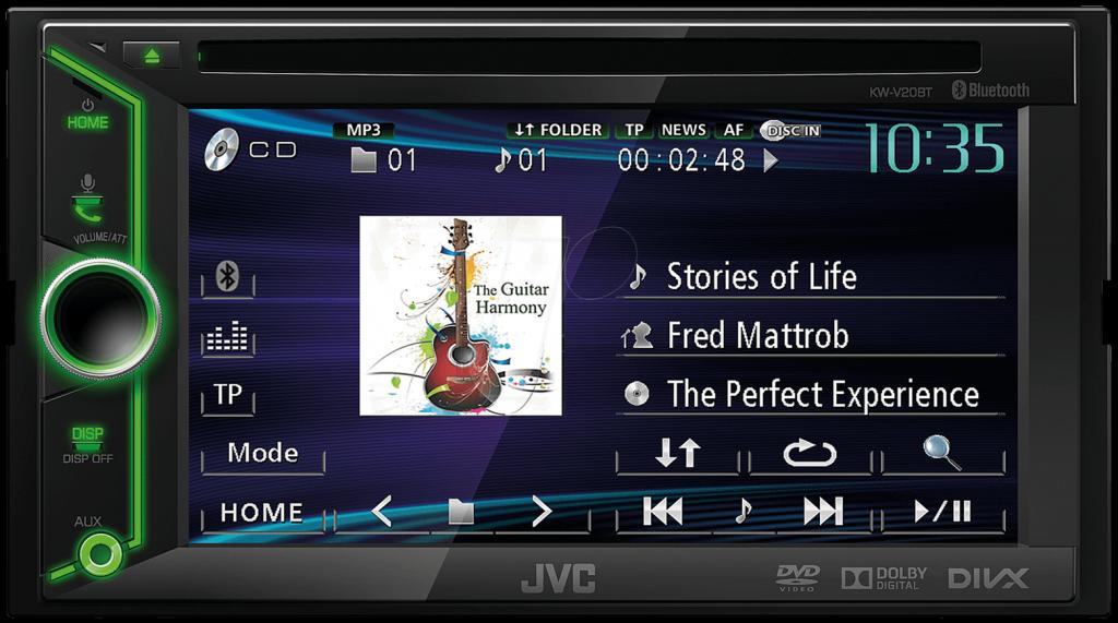 jvc kw v20bt 2din multimedia autoradio bluetooth usb mp3. Black Bedroom Furniture Sets. Home Design Ideas