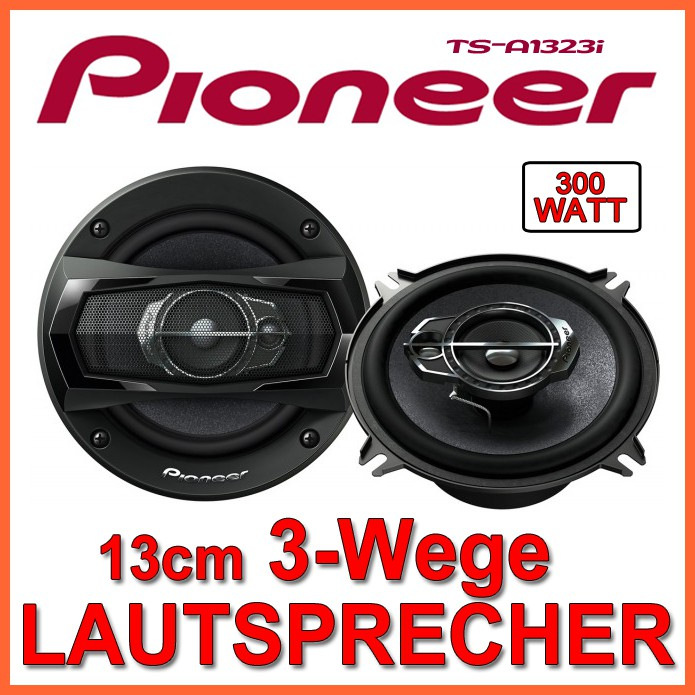 300watt pioneer ts a1323i 13cm 3 wege lautsprecher boxen. Black Bedroom Furniture Sets. Home Design Ideas