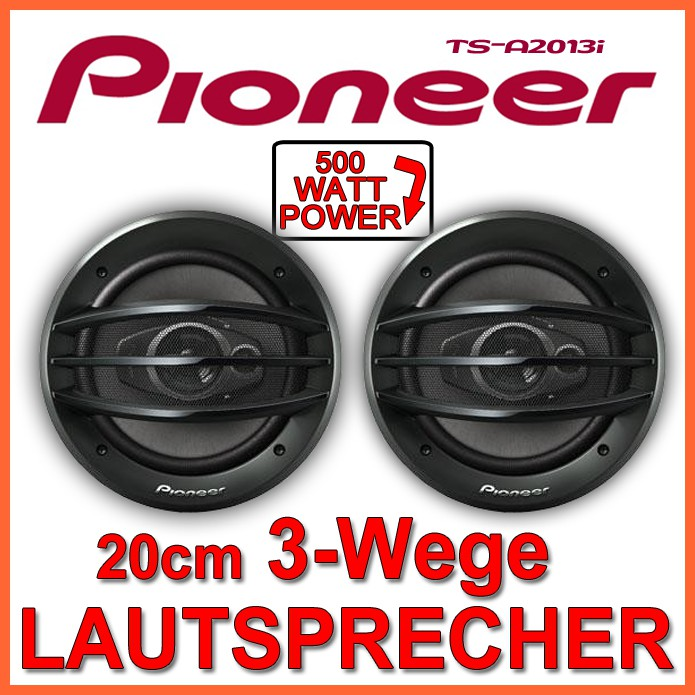 pioneer 500watt 200mm lautsprecher auto boxen set 3 wege. Black Bedroom Furniture Sets. Home Design Ideas