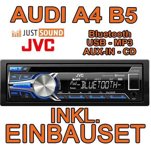 audi a4 b5 jvc bluetooth cd mp3 usb autoradio mit bose. Black Bedroom Furniture Sets. Home Design Ideas
