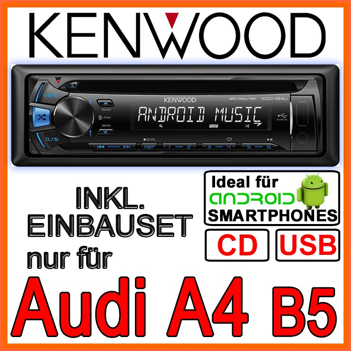audi a4 b5 kenwood cd mp3 usb autoradio bose einbauset. Black Bedroom Furniture Sets. Home Design Ideas