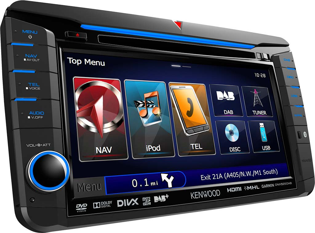 kenwood dnx525dab vw 2din navigation multimedia. Black Bedroom Furniture Sets. Home Design Ideas