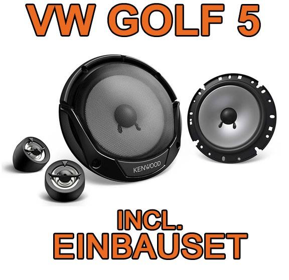 vw golf 5 v 300watt kenwood lautsprecher boxen set t r. Black Bedroom Furniture Sets. Home Design Ideas