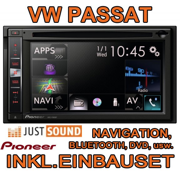 vw passat 3c b7 cc pioneer avic multimedia autoradio. Black Bedroom Furniture Sets. Home Design Ideas