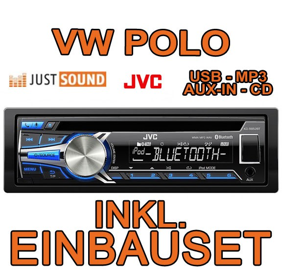 vw polo 9n jvc bluetooth usb autoradio cd mp3 einbauset. Black Bedroom Furniture Sets. Home Design Ideas