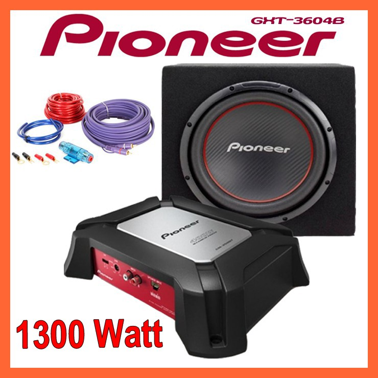 pioneer gxt 3604b endstufe subwoofer kabelset 1300. Black Bedroom Furniture Sets. Home Design Ideas