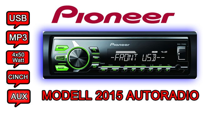 pioneer mvh 170ubg mp3 usb autoradio smartphone contr le radio auto voiture 2015 ebay. Black Bedroom Furniture Sets. Home Design Ideas