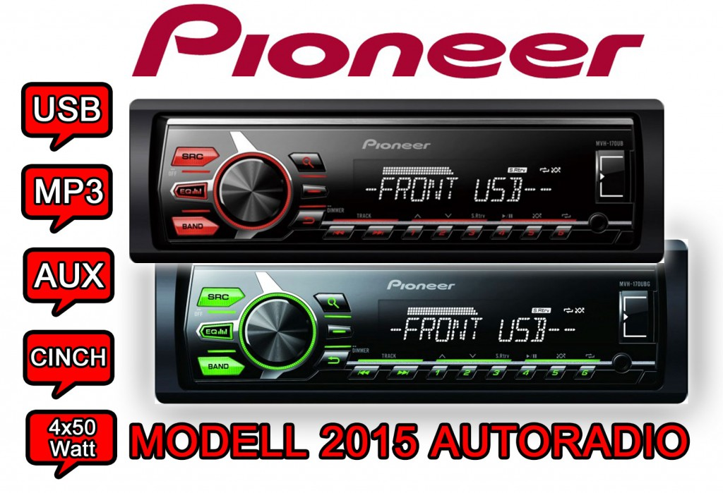 pioneer autoradio 2015 modell rds mp3 usb aux android radio hifi pkw neuware ebay. Black Bedroom Furniture Sets. Home Design Ideas