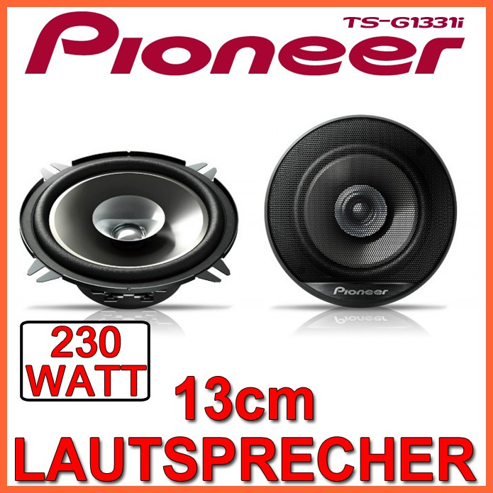 pioneer ts g1331i 130mm 2 wege koax lautsprecher boxen. Black Bedroom Furniture Sets. Home Design Ideas