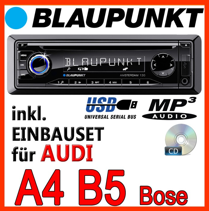 Blaupunkt Audi A4 B5 With Bose Car Radio Cd Mp3 Usb