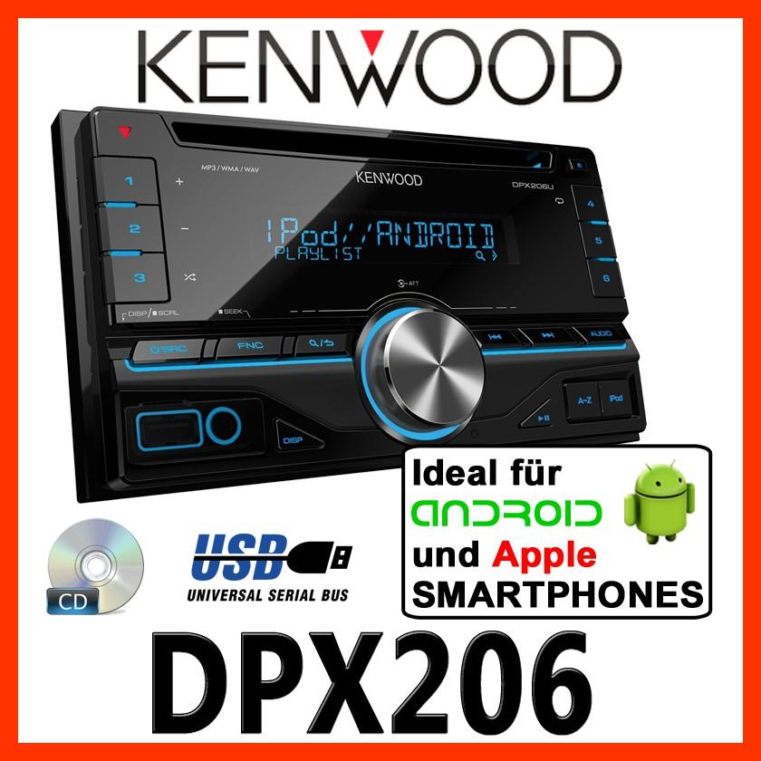 kenwood dpx206 2din usb autoradio cd mp3 radio auto pkw. Black Bedroom Furniture Sets. Home Design Ideas