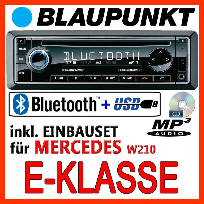 mercedes benz w210 e klasse blaupunkt cd mp3 usb. Black Bedroom Furniture Sets. Home Design Ideas