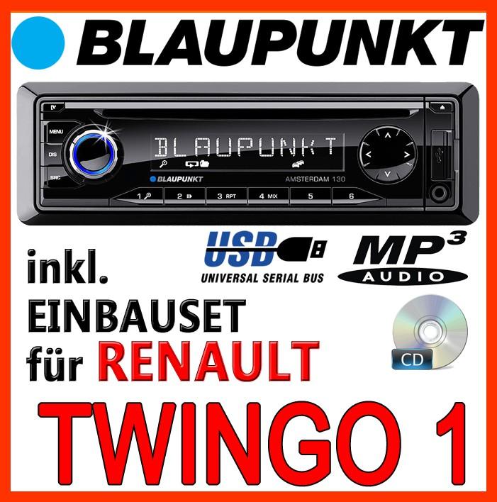 renault twingo 1 blaupunkt radio cd mp3 usb autoradio einbauset zubeh r ebay. Black Bedroom Furniture Sets. Home Design Ideas
