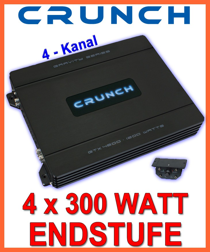 crunch gtx4600 4 kanal verst rker 1200watt max neu ebay. Black Bedroom Furniture Sets. Home Design Ideas