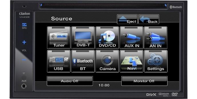 clarion vx402e 2 din tft autoradio usb bluetooth dvd 12v auto radio neu garantie ebay. Black Bedroom Furniture Sets. Home Design Ideas