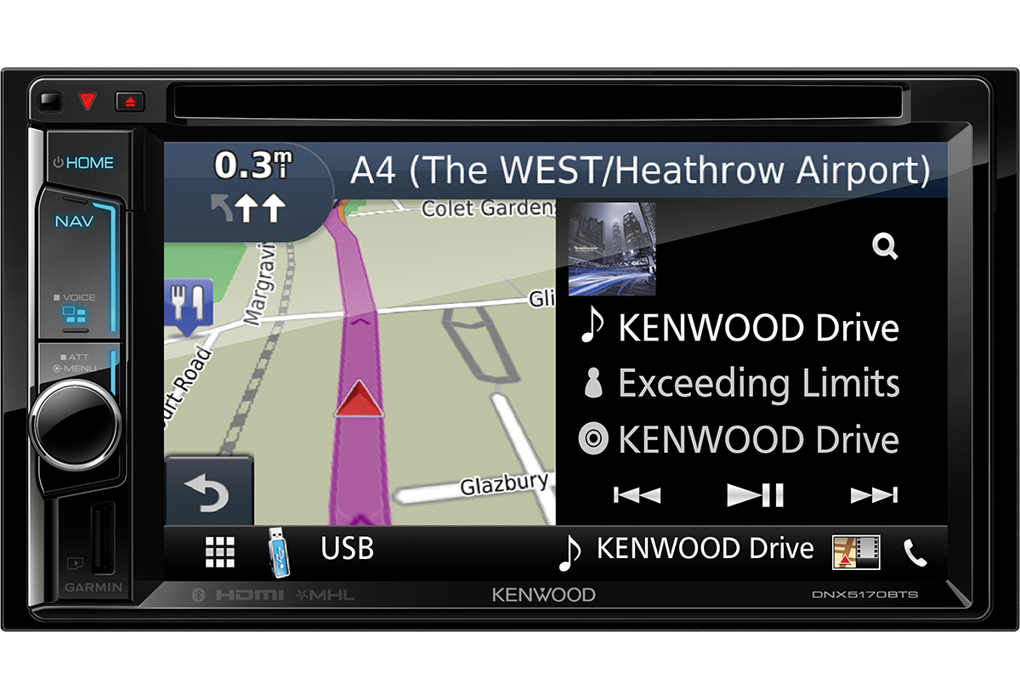 kenwood dnx5170bts 2 din navi bluetooth cd dvd apple carplay autoradio. Black Bedroom Furniture Sets. Home Design Ideas