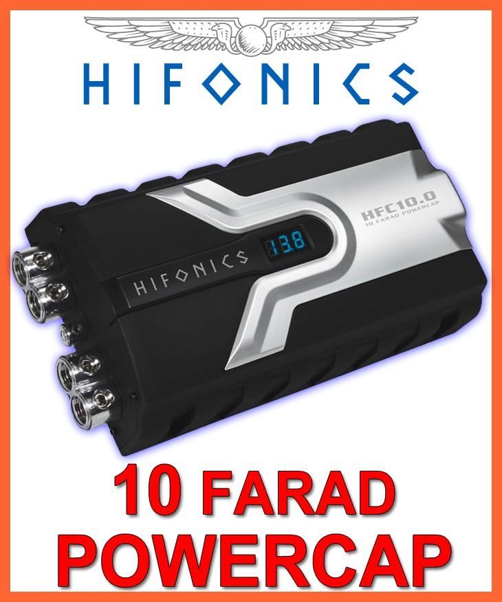 hifonics hfc10 0 10 farad powercap 10f kondensator. Black Bedroom Furniture Sets. Home Design Ideas