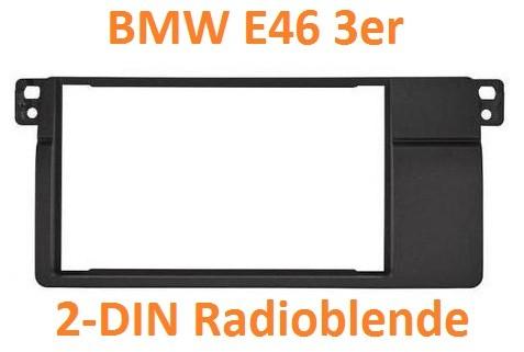 bmw 3er e46 2din radioblende linksb ndig. Black Bedroom Furniture Sets. Home Design Ideas