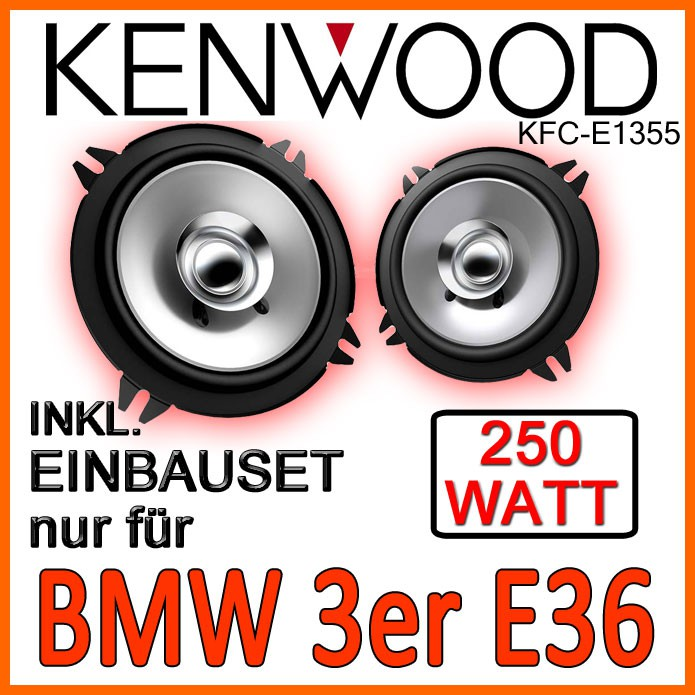 bmw 3er e36 kenwood 2 wege lautsprecher boxen set zubeh r. Black Bedroom Furniture Sets. Home Design Ideas