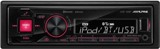 alpine ute 72bt 1 din autoradio mit bluetooth und usb. Black Bedroom Furniture Sets. Home Design Ideas
