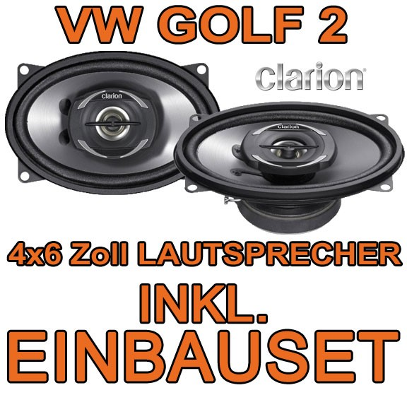vw golf 2 ii hinten clarion 2 wege boxen lautsprecher. Black Bedroom Furniture Sets. Home Design Ideas