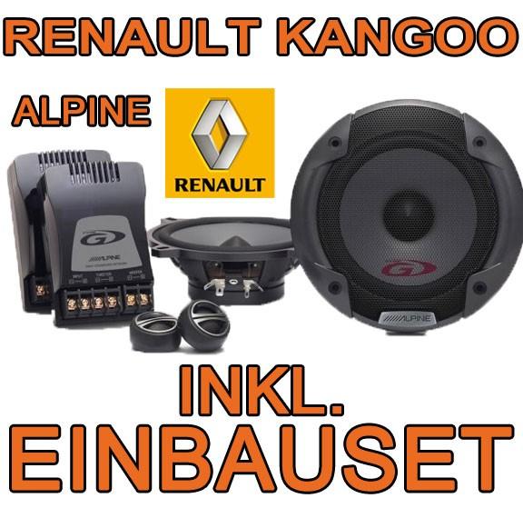 renault kangoo 2 lautsprecher alpine spg 13cs 13cm. Black Bedroom Furniture Sets. Home Design Ideas