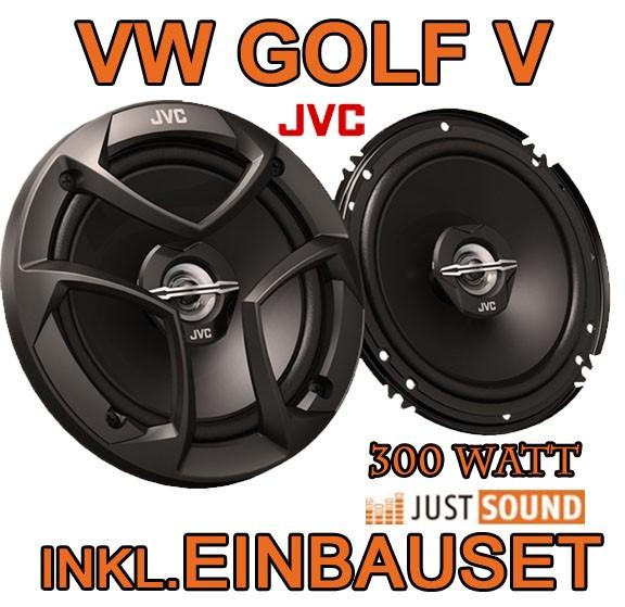 vw golf 5 heck lautsprecher jvc cs j620 16cm koaxe. Black Bedroom Furniture Sets. Home Design Ideas