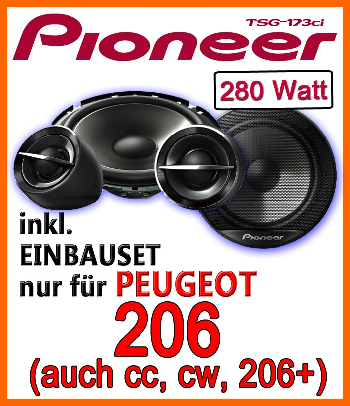 peugeot 206 206cc 206sw 206 pioneer ts g173ci 16cm. Black Bedroom Furniture Sets. Home Design Ideas