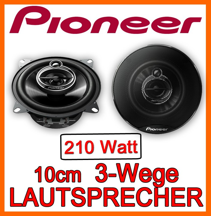 pioneer ts g1033i 10cm 3 wege koax lautsprecher 100mm. Black Bedroom Furniture Sets. Home Design Ideas