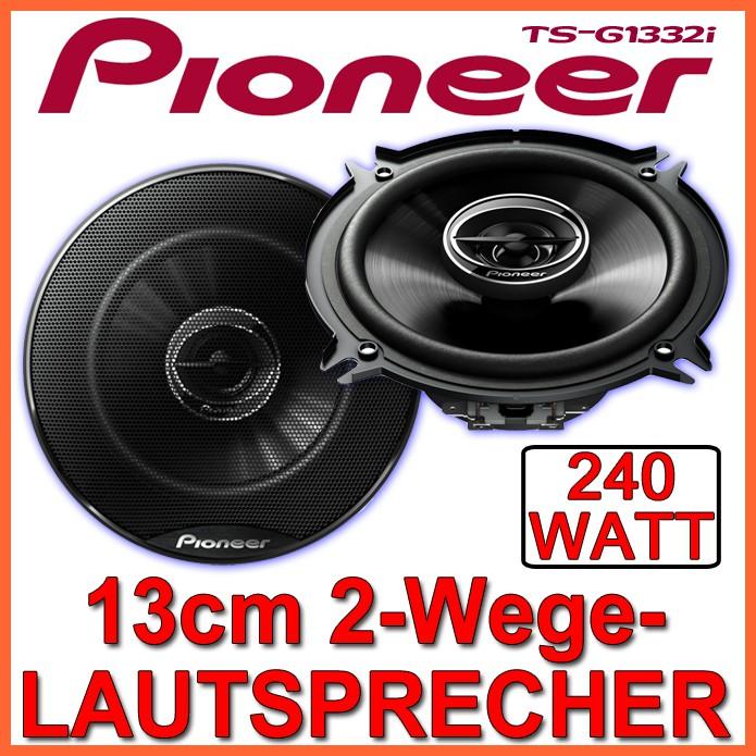pioneer ts g1332i 13cm 2 wege koax lautsprecher 130mm. Black Bedroom Furniture Sets. Home Design Ideas