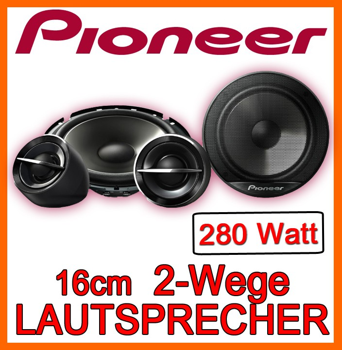 pioneer ts g173ci 16cm komponentensystem auto boxen set. Black Bedroom Furniture Sets. Home Design Ideas