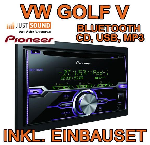 vw golf 5 plus variant jetta 5 pioneer fh x720bt. Black Bedroom Furniture Sets. Home Design Ideas
