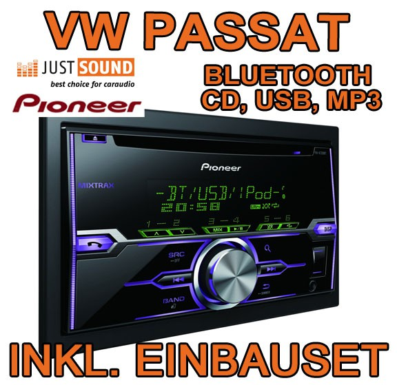 vw passat 3c b7 cc pioneer fh x720bt bluetooth. Black Bedroom Furniture Sets. Home Design Ideas