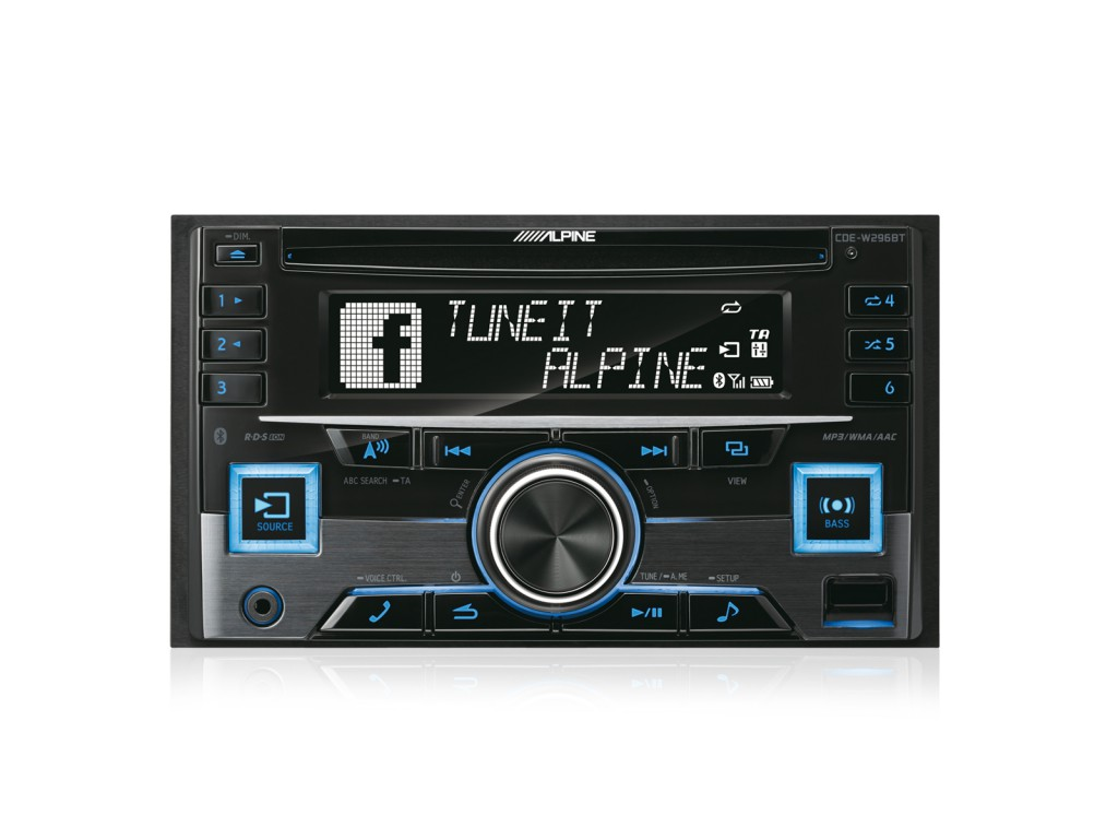 alpine cde w296bt 2 din autoradio inkl bluetooth. Black Bedroom Furniture Sets. Home Design Ideas