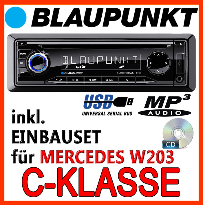 mercedes benz w203 c klasse blaupunkt amsterdam 130 cd. Black Bedroom Furniture Sets. Home Design Ideas