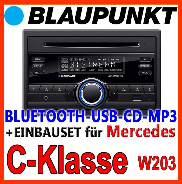blaupunkt mercedes w203 c klasse bluetooth autoradio cd. Black Bedroom Furniture Sets. Home Design Ideas