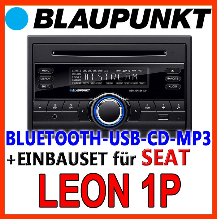blaupunkt seat leon 1p bluetooth 2 din car radio with cd. Black Bedroom Furniture Sets. Home Design Ideas