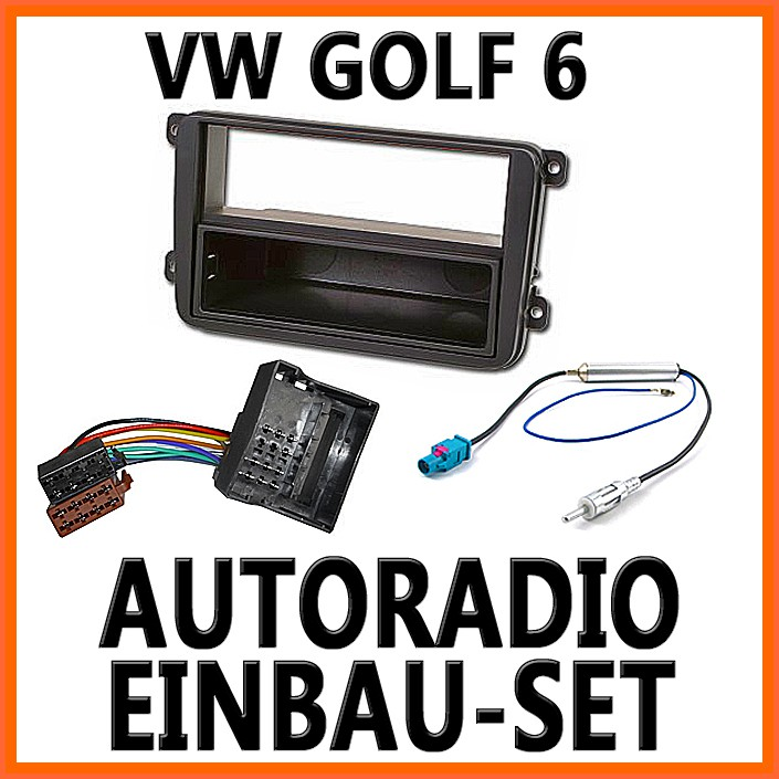 vw golf 6 jetta plus unviersal din autoradio einbauset. Black Bedroom Furniture Sets. Home Design Ideas