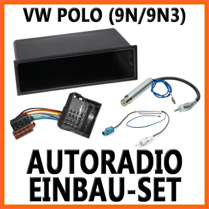 vw polo 4 9n 9n3 2001 2008 universal din autoradio einbauset. Black Bedroom Furniture Sets. Home Design Ideas