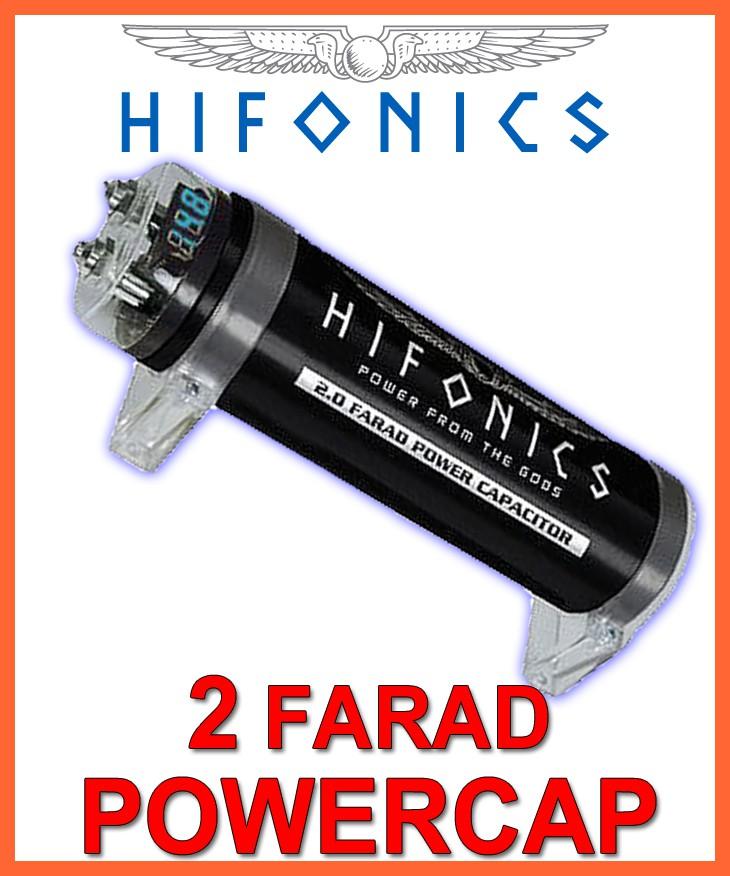 hifonics hfc2000 2 farad powercap 2f kondensator cap elko. Black Bedroom Furniture Sets. Home Design Ideas