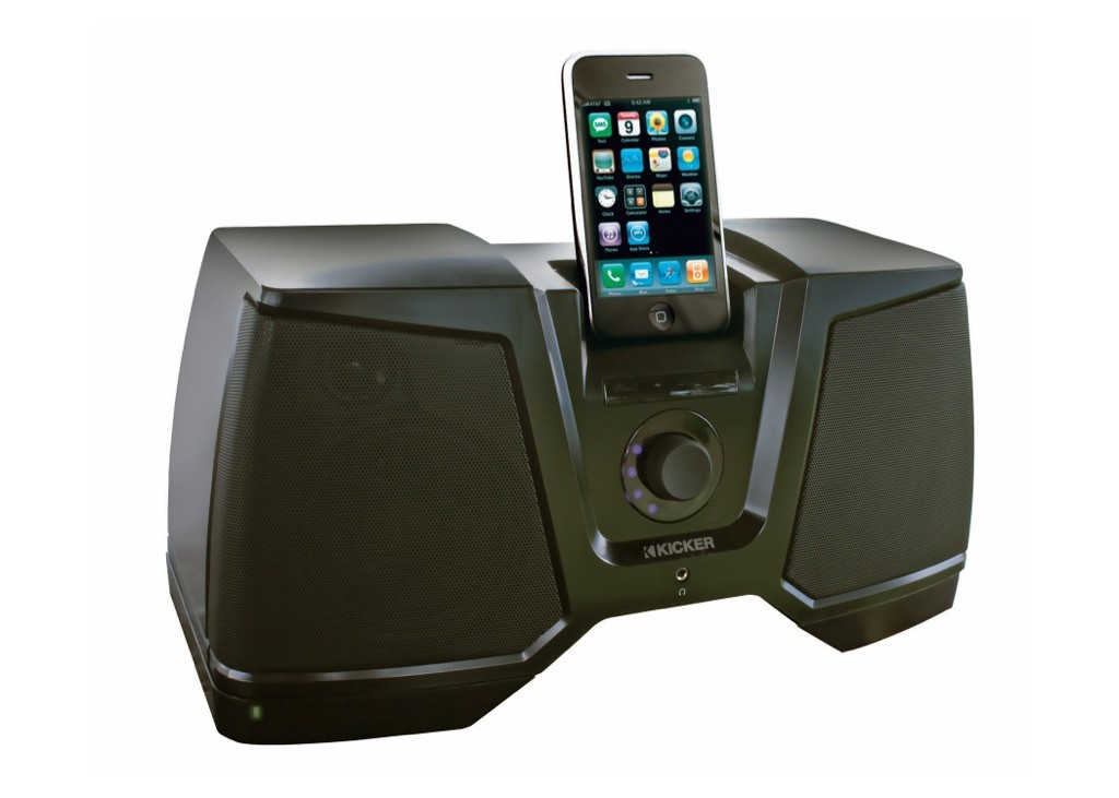 kicker ikick350 aktivbox f r ipod. Black Bedroom Furniture Sets. Home Design Ideas