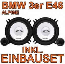 bmw 3er e46 alpine frontsystem 13cm. Black Bedroom Furniture Sets. Home Design Ideas